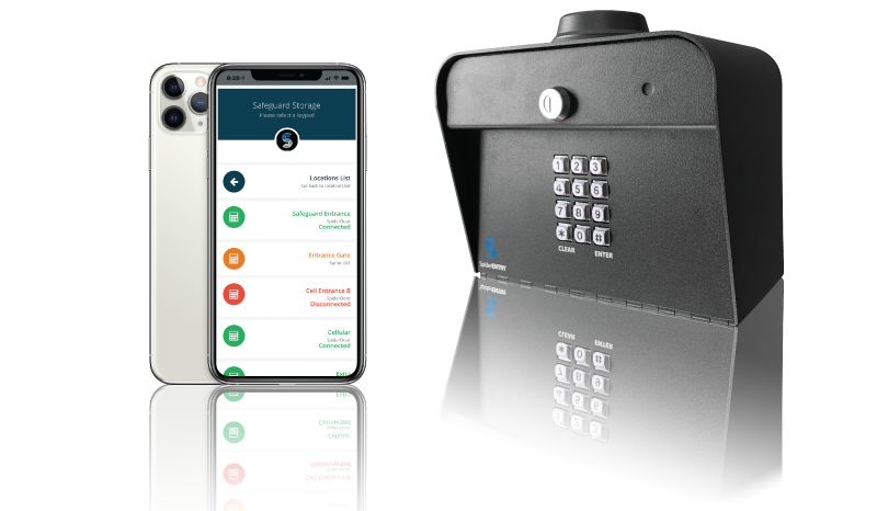 Spiderdoor cellular access control keypad